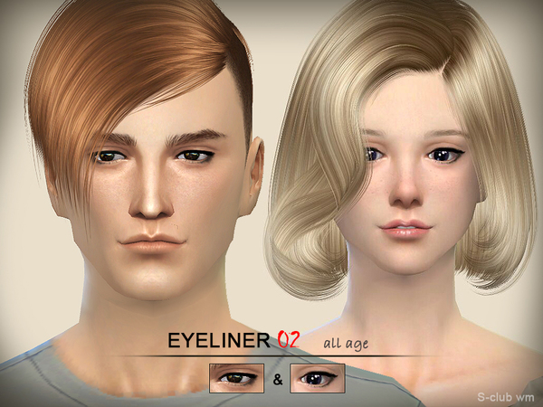 Eyeliner 02 by S Club WM at TSR image 13624 Sims 4 Updates