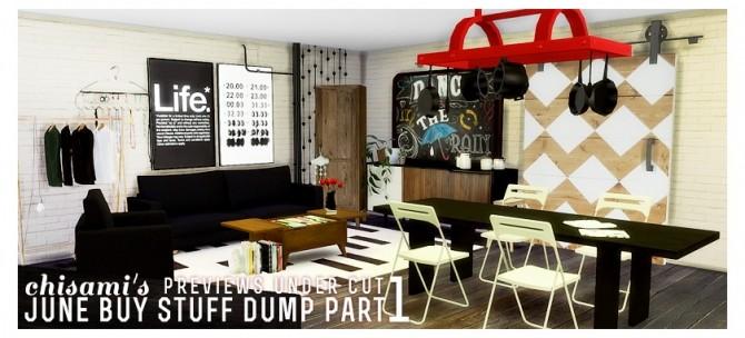 Sims 4 June Buy Stuff Dump Part 1 at Chisami