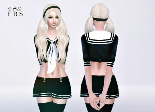 Sims 4 Babydoll outfit at Fashion Royalty Sims