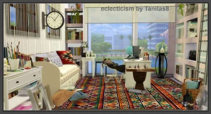 Sims 4 Eclecticism house at Tanitas8 Sims