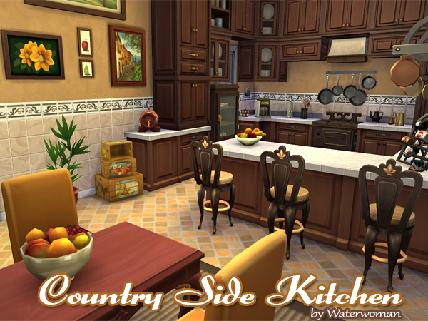 Country Side Kitchen by Waterwoman at Akisima image 1382 Sims 4 Updates