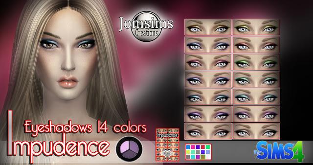 Sims 4 Impulence eyeshadow + eyeliner at Jomsims Creations