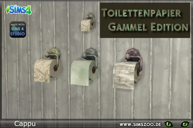 Toilet paper Gammel Edition by Cappu at Blacky's Sims Zoo image 13920 Sims 4 Updates