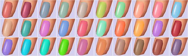 Sims 4 Trendy Nail Polishes 2.0 at Veranka