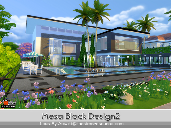Sims 4 Mesa Black Design2 by autaki at TSR