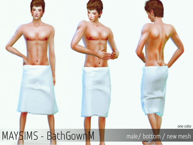 Bath Towel Wrap For Males At May Sims 187 Sims 4 Updates