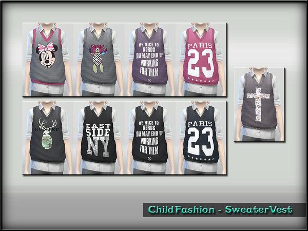 Sims 4 Child Fashion Sweater Vest by ShojoAngel at TSR