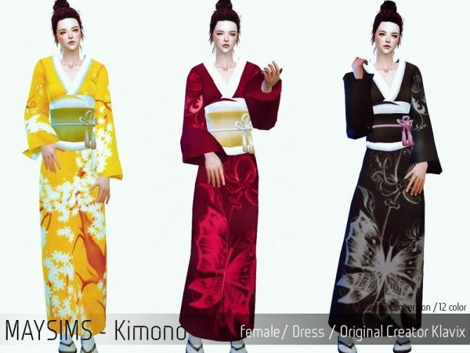 Kimono At May Sims 187 Sims 4 Updates