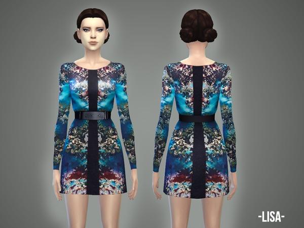 Sims 4 Lisa dress by April at TSR