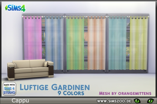 Sims 4 Breezy curtain by Cappu at Blacky's Sims Zoo