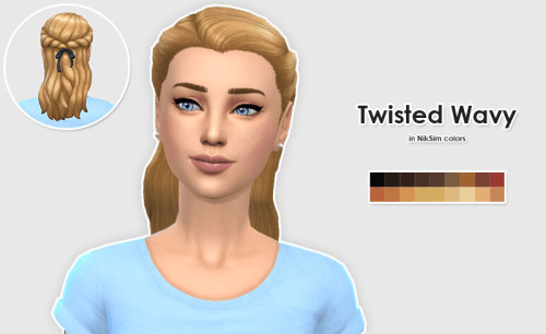 PickyPikachu Converted Twisted Wavy in NikSim Colors at ELLESMEA image 147 1 Sims 4 Updates