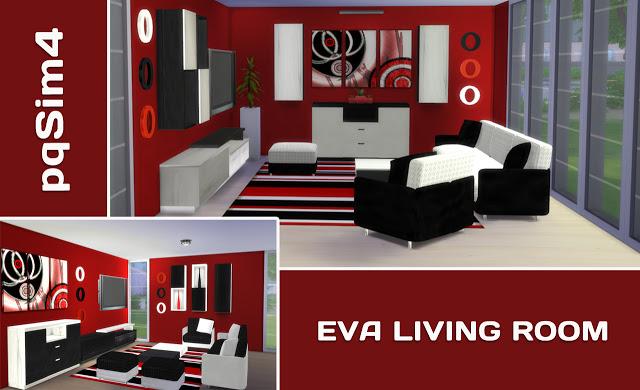 Sims 4 Eva livingroom at pqSims4