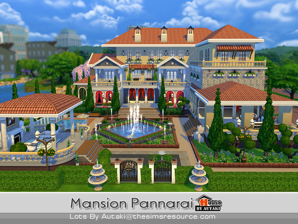 Mansion Pannarai by autaki at TSR image 15107 Sims 4 Updates