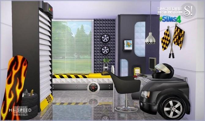 Sims 4 Hi Speed kids bedroom at SIMcredible! Designs 4