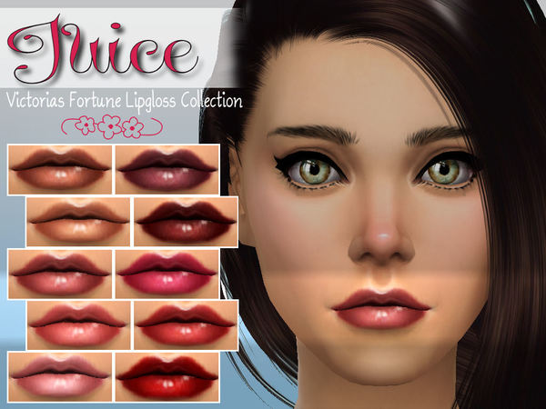 Sims 4 Juice Lipgloss Collection by fortunecookie1 at TSR