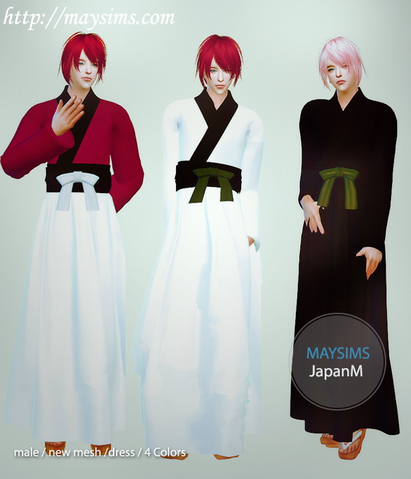Japanese Outfit For Males At May Sims 187 Sims 4 Updates