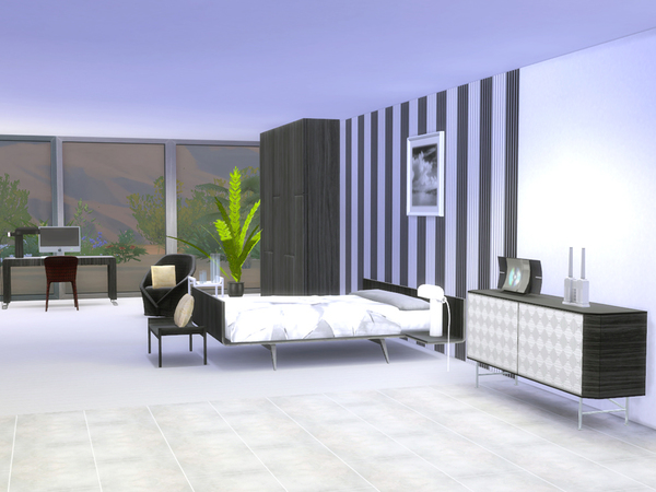Bedroom Minimalist by ShinoKCR at TSR image 1516 Sims 4 Updates