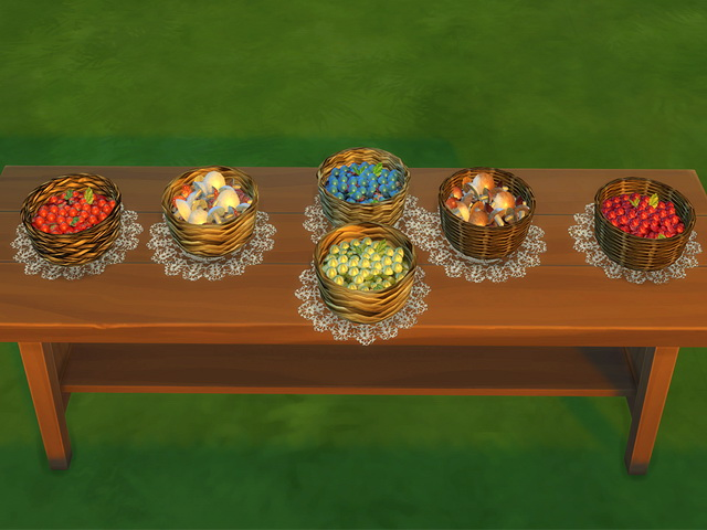 Sims 4 Autumn Table fruits and vegies at Sims Fans