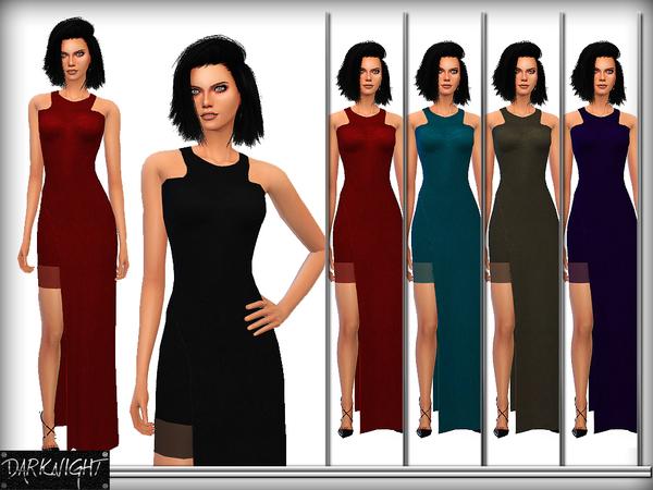 Sims 4 Stretch Crepe Maxi Dress by DarkNighTt at TSR
