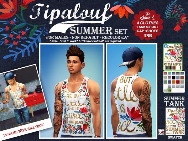 Sims 4 Summer Set by Tipalouf at TSR