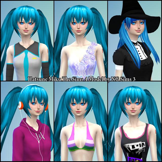 Sims 4 Hatsune Miku at NG Sims3