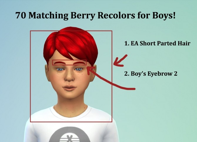 Sims 4 70 Matching Berry Recolors for Boys at The Simsperience