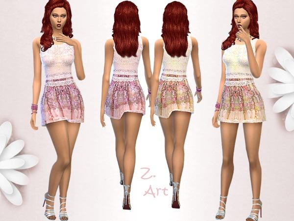 Sims 4 Ultra Mini dress by Zuckerschnute20 at TSR
