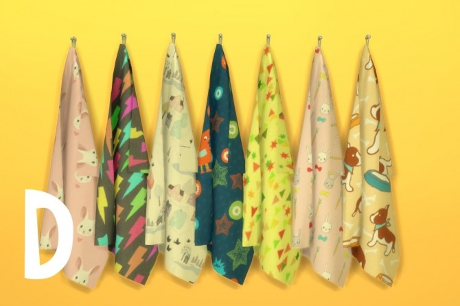 Sims 4 Towels recolor at Budgie2budgie