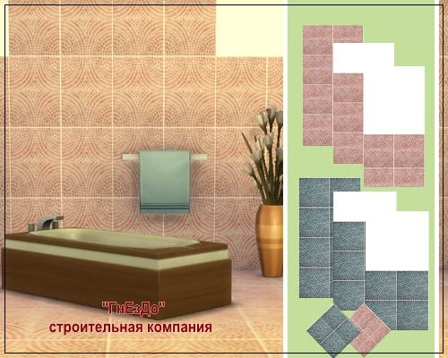 Cascade ceramic tile at Sims by Mulena image 1583 Sims 4 Updates