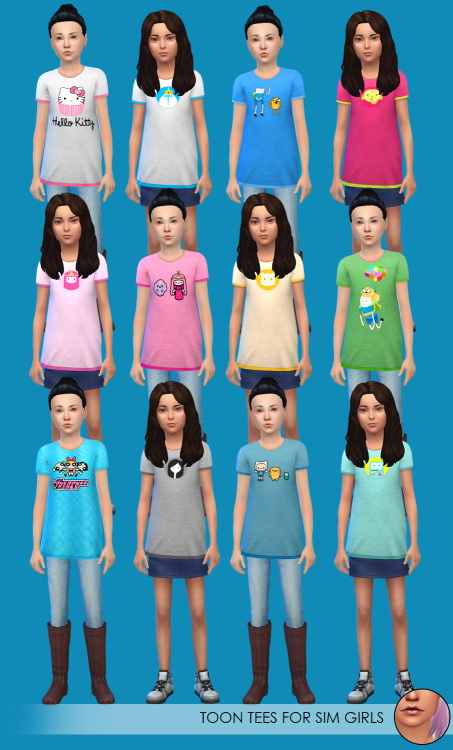 Toon tees & off shoulder tops at Erica Loves Sims image 15918 Sims 4 Updates