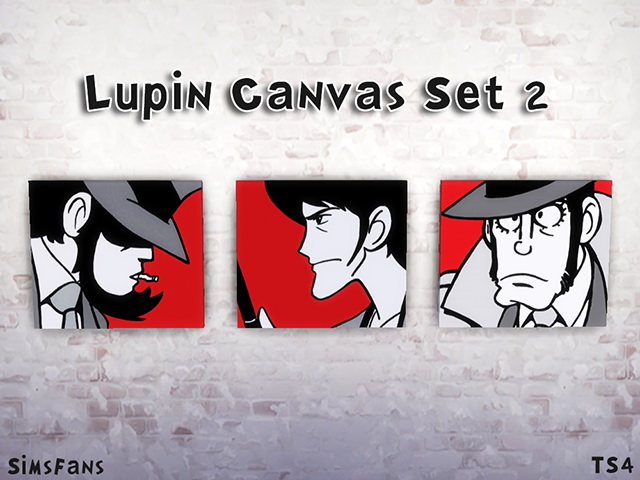 Sims 4 Lupin Canvas Set by Melinda at Sims Fans