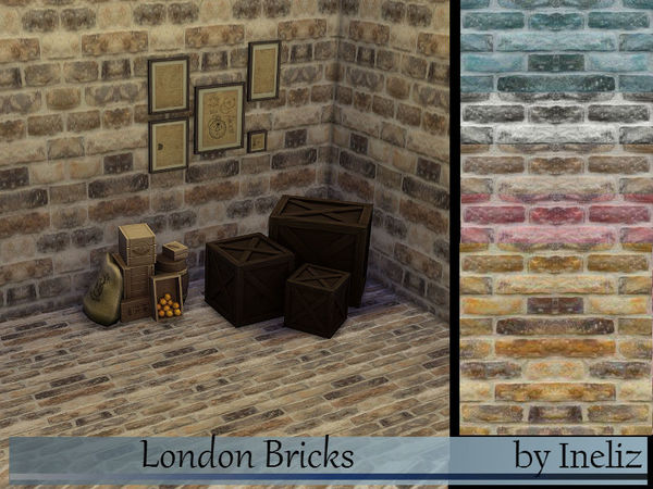 London Bricks by Ineliz at TSR image 16021 Sims 4 Updates
