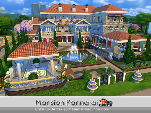 Mansion Pannarai by autaki at TSR image 16108 Sims 4 Updates