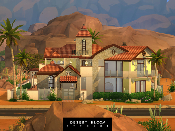 Desert Bloom Mansion By Ettoire At Tsr 187 Sims 4 Updates