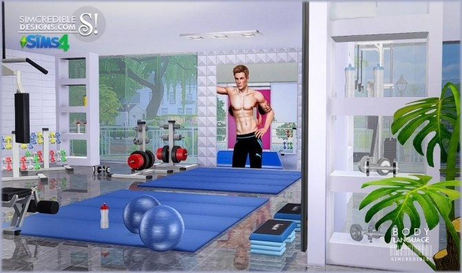 Body Language Themed Gym Room At Simcredible Designs 4