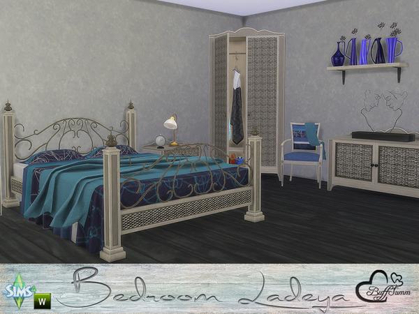 Sims 4 Ladeya Bedroom by BuffSumm at TSR