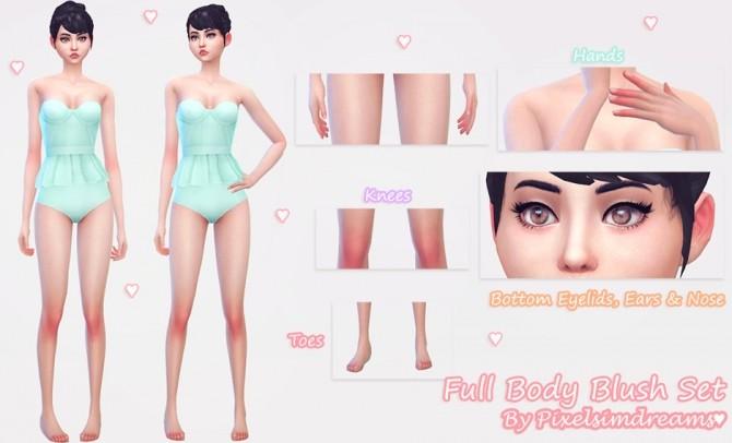 Sims 4 Full Body Blush Set at Pixelsimdreams