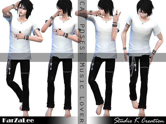 CAS pose replacement MusicLover at Studio K Creation image 16129 Sims 4 Updates