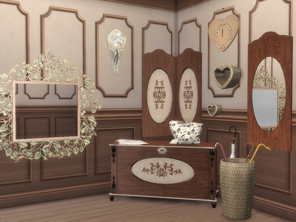 Beige Hallway by Flovv at TSR image 1615 Sims 4 Updates