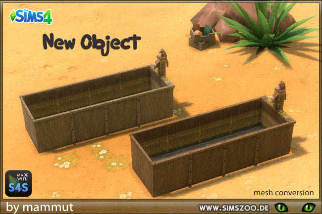 Sims 4 Horse water trough by mammut at Blacky's Sims Zoo