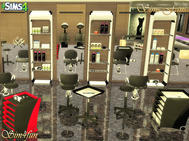 Beauty Salon by Sim4fun at Sims Fans image 16215 Sims 4 Updates
