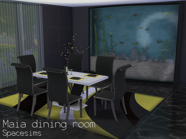 Sims 4 Maia diningroom by spacesims at TSR