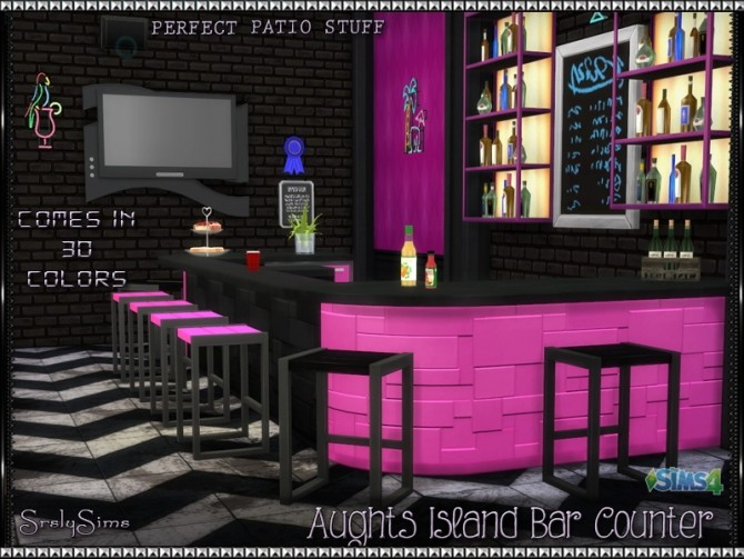 Aughts Island Bar Counter At Srslysims 187 Sims 4 Updates