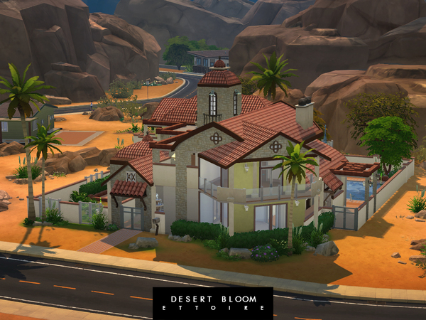 Sims 4 Desert Bloom mansion by Ettoire at TSR