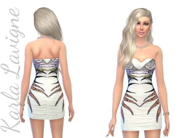 Sims 4 Chic Dress by Karla Lavigne at TSR