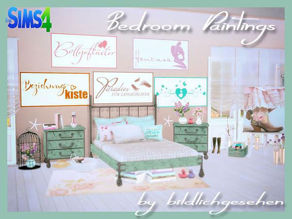 Bedroom Paintings by Bildlichgesehen at Akisima image 1643 Sims 4  600 x 450