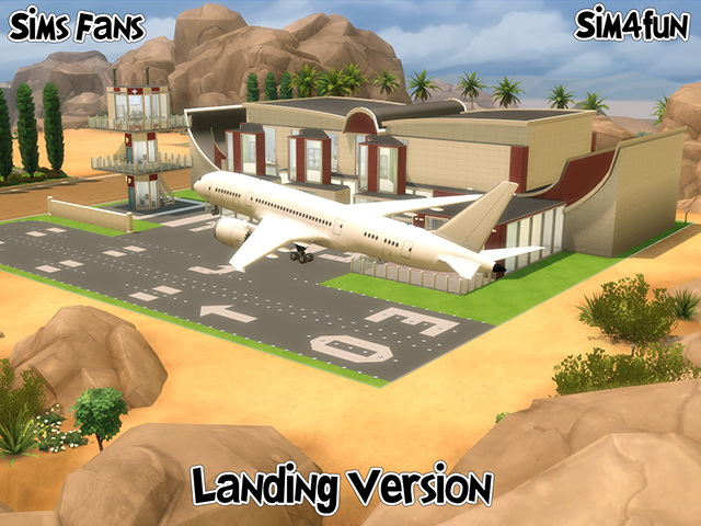 Sims 4 Boeing 787 Landing and Landed version by Sim4fun at Sims Fans