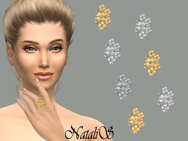 Sims 4 Multi flower ring by NataliS at TSR