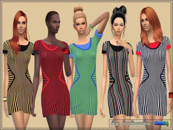 Sims 4 Dress Strips by bukovka at TSR