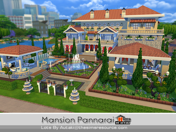 Mansion Pannarai by autaki at TSR image 17106 Sims 4 Updates